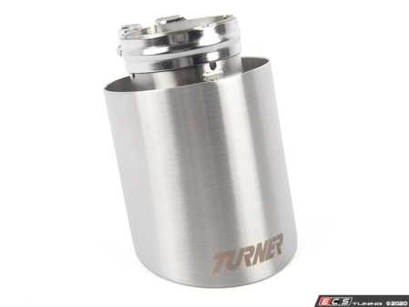 """ES#4039315 - 026374TMS02-10 - 4"""" Universal Exhaust Tip w/ Brushed Finish - Priced Each - Stainless Steel exhaust tip featuring a 2.5"""" Inlet & a 4.0"""" Double Wall, Angle Cut Outlet - Turner Motorsport - BMW MINI"""