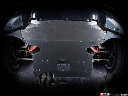 ES#4220291 - 006137la01KT - Turner Motorsport Aluminum Skid Plate - Mill Finish - The ultimate upgrade for belly pan replacement is here! - Turner Motorsport - BMW