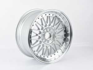 "ES#4159230 - 010-24sd3 - 18"" Style 010 - Single Wheel - *Scratch And Dent* - *Please see description prior to ordering* 18x9"" ET30 5x112 - Silver with machined lip. - Alzor - Audi BMW Volkswagen"