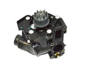 ES#4159252 - 06H121026CQ - Water Pump Module - Includes the thermostat, temp sensor, and gasket - Hamburg Tech - Audi Volkswagen