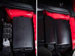 ES#4056865 - 005066LA01 -  ABS Fuse Box / ECU Cover - Cover the unsightly ECU bracket and fuse box lid with our OE-appearance ABS fuse box overlay - ECS - Audi Volkswagen