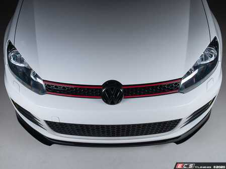 ES#4001264 - 028749ecs01-01KT -  VW MK6 GTI Front Lip Spoiler - Gloss Black - In-house engineered to upgrade your exterior styling - ECS - Volkswagen