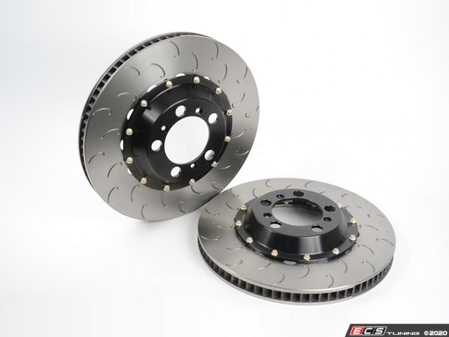 ES#4159460 - 13.01.20018 - AP Racing 2-Piece Competition J-Hook Rear Rotors - Pair (380x30) - Direct bolt-on replacements that save 3-4 lbs of unsprung weight per side while increasing airflow, cooling capacity, and durability - AP Racing - Porsche