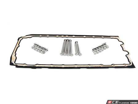 ES#4158447 - 11132210959KT - Oil Pan Gasket - With Bolts  - Gasket between oil pan and engine block - Assembled By ECS - BMW