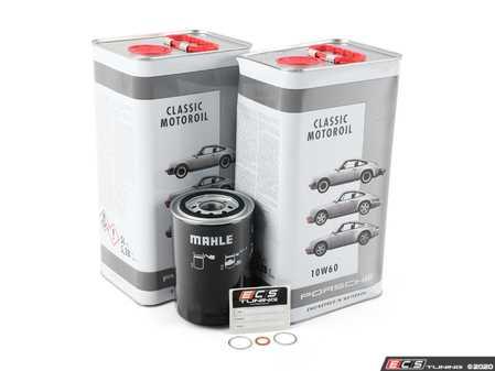 ES#3671944 - 93010776401KT11 -  964 Oil Change Kit - Featuring High Zinc Genuine Porsche Classic 10w-60 Motor Oil and Mahle Filter - Assembled By ECS - Porsche