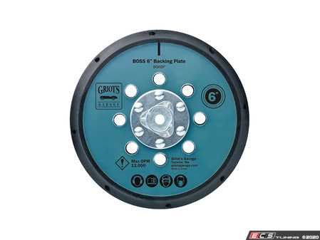"""ES#4164186 - BG6BP - BOSS 6"""" Backing Plate - Convert your G15 to use the 6"""" pad system and add more coverage to your BOSS surface care collection - Griot's - Audi BMW Volkswagen Mercedes Benz MINI Porsche"""