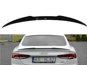 ES#4164440 - A52SLINESBCAP1C - Rear Trunk Spoiler Cap - Carbon Look - Add aggressive looks to your Audi with this quality ABS trunk spoiler - Maxton Design - Audi
