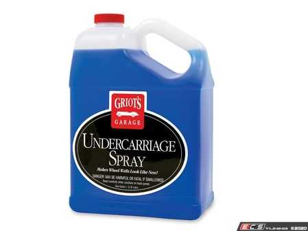 ES#3060667 - 11139 - Undercarriage Spray - 1 Gallon - It's no longer a messy job detailing your wheel wells, frame, springs, and all of the other black items underneath your car's body. - Griot's - Audi BMW Volkswagen Mercedes Benz MINI Porsche