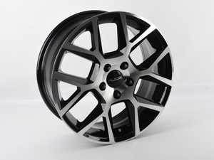 "ES#4164720 - 640-4sd - 17"" Style 640 Wheel - Single Wheel - *Scratch And Dent* - *please see description prior to ordering* 17""x7"" ET45 5x112 - Black/Machined Face - Alzor - Audi Volkswagen"