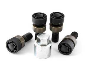 ES#3711739 - PAF009593 - Locking Wheel Bolt Set - Black - Thatcham style - Genuine Porsche - Porsche
