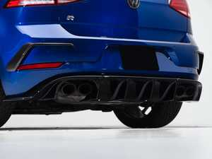 ES#3988189 - 027992ecs01KT -  MK7.5 Golf R ABS Rear Diffuser - Add aggressive styling with our In-House Engineered Gloss Black Rear Diffuser! - ECS - Volkswagen