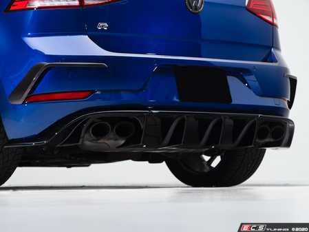 ES#3988189 - 027992ecs01KT -  MK7.5 Golf R Gloss Black Rear Diffuser - Add aggressive styling with our In-House Engineered Gloss Black Rear Diffuser! - ECS - Volkswagen