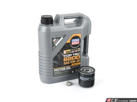 ES#4004338 - 20238KT - Oil Service Kit - Includes Hengst oil filter and Liqui Moly 0w-20 Top Tech 6200 oil - Assembled By ECS - Volkswagen