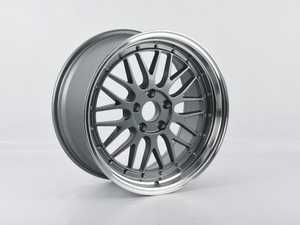 """ES#3470613 - 020-24SD - Alzor 18"""" Style 020 Wheel - Gun Metal With Polished Lip *Scratch And Dent* - 18x9"""", ET30, 5x112, 66.6mm CB - Alzor - Audi"""