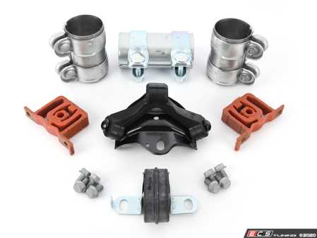 ES#2765628 - 1J5253609AQKT3 - Exhaust Installation Kit - Cat Back - Includes all brackets, clamps and hardware needed for installation - Assembled By ECS - Volkswagen