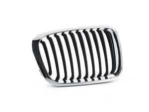 ES#4135558 - 51138208488 - Kidney Grille - Right - Chrome outer design with black slats - BBR Automotive - BMW