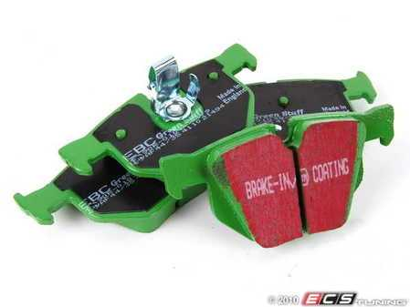 ES#519849 - DP21494 - GreenStuff Performance Brake Pads - Rear Brake Pad Set - Designed as a mildly upgraded pad, great for an afternoon of sporty driving - EBC - BMW