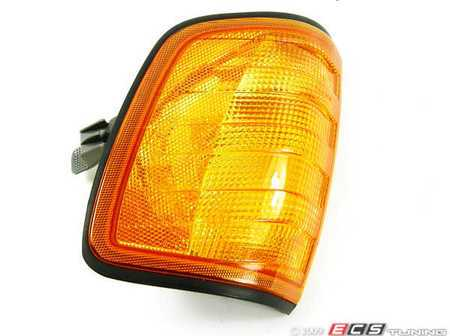 ES#252643 - 1248260243 - Front Turn Signal Housing - Left (Driver) Side - Amber Housing only - Does not include bulb or bulb socket - Magneti Marelli - Mercedes Benz