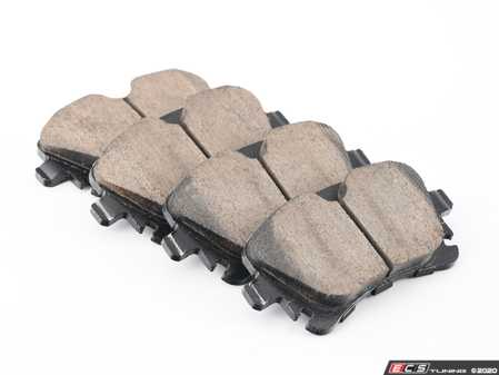 ES#4212788 - EUR1018A - Rear Euro Ceramic Brake Pad Set - For those looking for a low dust replacement brake pad - Akebono - Audi