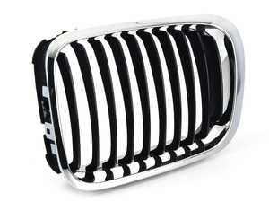 ES#4135564 - 51138208487 - Kidney Grille - Left - Chrome outer design with black slats - BBR Automotive - BMW