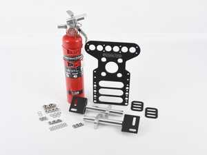 ES#4213196 - FE09H3RBMX250Rsd - Rennline Fire Extinguisher And Universal Mount Package - Dry Chem - *Scratch And Dent* - *Please see description prior to ordering* Black mount with Red HalGuard Dry Chem fire extinguisher - Rennline - Audi BMW Volkswagen Mercedes Benz MINI Porsche