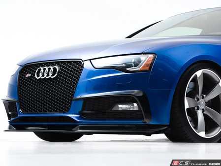 ES#4028198 - 028803ECS01 - Audi B8.5 A5 S-Line / S5 Grille Accent Set - Gloss Black - Upgrade your exterior styling - ECS - Audi