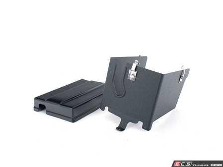 ES#4143530 - 019722ECS01-02KT -  Matte Black Battery Cover Kit - Ditch the plastic and upgrade to an ECS Aluminum & Matte Black Battery Cover Kit! - ECS - Audi Volkswagen