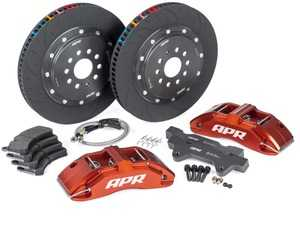 ES#4213865 - BRK00025 - Front Big Brake Kit (380x34) - Red - Red 6-piston calipers, with floating 2-piece rotors and performance pads - APR - Audi