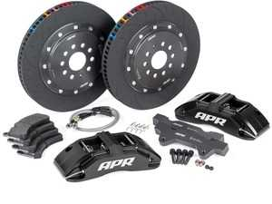 ES#4213863 - BRK00026 - Front Big Brake Kit (380x34) - Black - Black 6-piston calipers, with floating 2-piece rotors and performance pads - APR - Audi