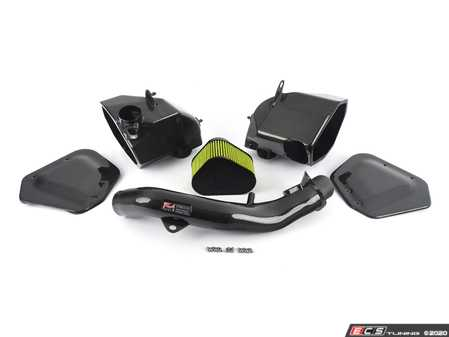 ES#4043318 - 2660-13038 - AWE S-FLO Carbon Intake for F8X - The engineers at AWE have increased airflow and unlocked performance from the S55 engine, for max gains of 12hp and 10ft-lbs of torque at the crank. - AWE - BMW