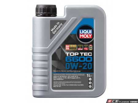 ES#4045245 - 22044 - TOP TEC 6600 0W-20 LL-17 - 1 Liter - For gasoline and diesel vehicles. Specially developed for the requirements of BMW, Mercedes-Benz, Opel and other manufacturers. - Liqui-Moly - BMW Mercedes Benz