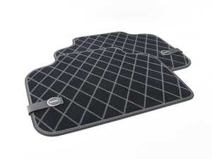 ES#3185858 - 51472447612 - Essentials Rear Carpeted Factory Floor Mats Set Black - Priced As Set  - Replace or upgrade to factory MINI mats - Genuine MINI - MINI