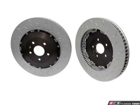 ES#4220117 - 034-301-1000 - 2-Piece Floating Front Brake Rotor Upgrade Kit (370x34) - Direct replacement rotors that reduce rotational mass and feature J-Slots for less noise but same benefits as conventional slots - 034Motorsport - Audi