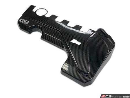 ES#4164652 - 034-1ZZ-0009 - Carbon Fiber Engine Cover Overlay - Designed to tastefully complement the factory engine bay with a beautiful carbon fiber weave that is perfectly matched to OEM Carbon and all 034Motorsport Carbon Fiber components, such as the X34 Evo Intake system. - 034Motorsport - Audi