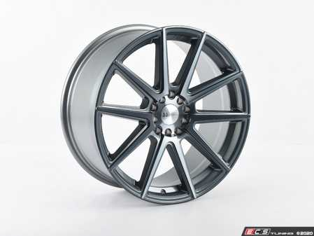"""ES#3970252 - F27188510HGM40SD - 18"""" F27 Priced Each - *Scratch And Dent* - 18""""x8.5"""" ET40 5x100/5x114.3 - Machined Gunmetal *Please see description prior to ordering.* - F1R Wheels - Audi Volkswagen"""