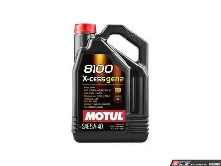 ES#4146701 - mot109776 - 8100 X-Cess Gen2 Engine Oil (5w-40) - 5 Liter - A fully synthetic engine oil allowing extended oil drain intervals, while protecting your engine in the harshest conditions - Motul - Audi BMW Volkswagen MINI