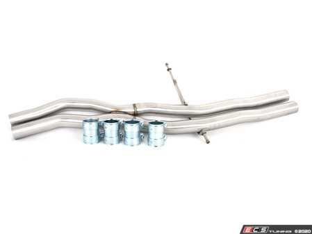ES#4213786 - 006788la01aKT - Audi C7 S6/S7/RS7 4.0T X-Pipe Kit - Eliminate the center resonator on your OE system for a more aggressive exhaust note - ECS - Audi