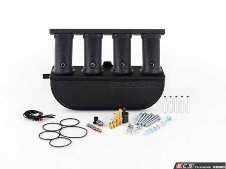 ES#4164595 - 021389ECS03-02KT - ECS Tuning 2.0T FSI/TSI Aluminum Intake Manifold - Without Accessory Kit - Wrinkle Black Powdercoat Finish - Features +53% increase in plenum volume, +8% CFM airflow, 5-axis billet intake runners, CNC-machined flanges and meth/N2O ports. Engineered, tested and fabricated in the U.S.A. - ECS - Audi Volkswagen