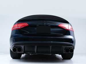ES#4033487 - 028808ECS01 - Audi B8 S4 / A4 S-Line Rear Diffuser - Gloss Black - Add some aggressive styling to your Audi! - ECS - Audi