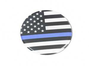 ES#3437878 - CD1063 - GoBadges Car Grill Badge Thin Blue Line Flag US - Add a stylish design to your Go Badges holder or plate frame - Go Badges - MINI
