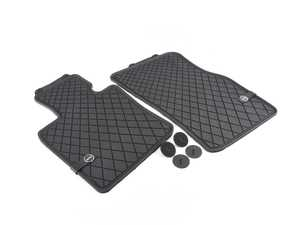 ES#2715103 - 51472354155 - Essentials Front Rubber Factory Floor Mats Set Black - Priced As Set  - Replace or upgrade to factory MINI mats - Genuine MINI - MINI