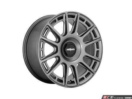 """ES#4265865 - r158209025+38KT - 20"""" OZR - Set Of Four  - 20""""x9.5"""" ET38 5x112/5x120 - Matte Anthracite - Rotiform - Audi Volkswagen"""