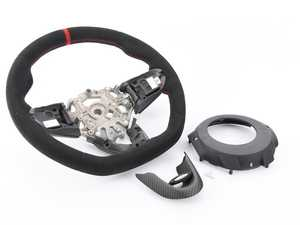 ES#4033359 - 32302364770 - JCW PRO Steering Wheel In Alcantara - Paddle Shifter Version - Upgraded steering wheel with a JCW feel - Genuine MINI - MINI