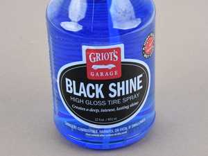 ES#4164064 - 10957 - Black Shine High Gloss Tire Spray - 22oz - Eliminate messy overspray and enjoy total control of your gloss level so tires can have a sedate satin finish or a glossy show shine. - Griot's - Audi BMW Volkswagen Mercedes Benz MINI Porsche