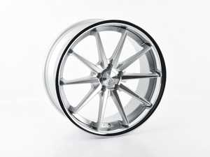 """ES#4271449 - FR42095112M5sd - 20"""" FR4 Style Wheel - Priced Each *Scratch And Dent* - 20""""x9"""" ET35 66.6CB 5x112 - Machine Silver with Chrome Lip *Please see description Prior to ordering* - Ferrada Wheels - Audi Volkswagen"""