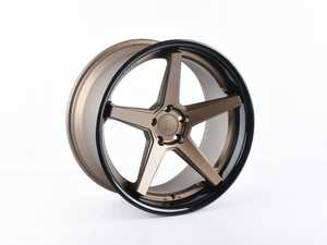 """ES#4271447 - FR2201055115M0sd - 20"""" FR3 Style Wheel - Priced Each *Scratch And Dent* - 20""""x10.5"""" ET38 66.6CB 5x112 - Matte Bronze With Gloss Black Lip *Please see description Prior to ordering* - Ferrada Wheels - Audi Volkswagen"""