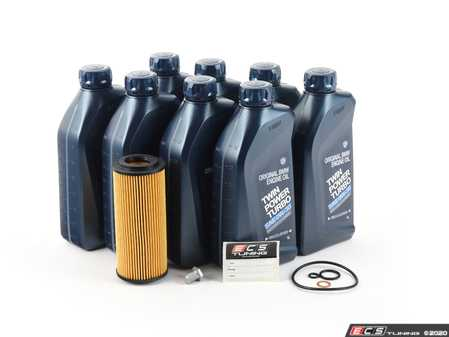 ES#3677567 - E7035DOILAMKT2 - Genuine BMW Oil Change Kit / Inspection I Kit  - Everything you need for a comprehensive oil service, including 0w-30 Genuine BMW oil, Hengst filter with new drain plug - Assembled By ECS - BMW