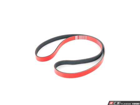 ES#3677913 - 06B903137D - Performance Kevlar Reinforced Accessory Belt - Our Red Kevlar accessory Belts are both an aesthetic improvement and a performance alternative to a traditional belt. - ECS - Audi
