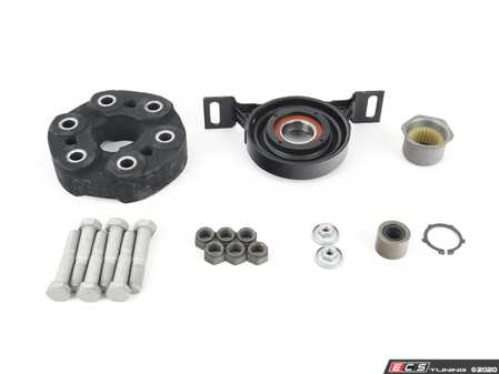 """ES#4220373 - 261122265272KT - Universal Flex Disc Kit - Includes high quality German-made """"Giubo"""" and center support mount bearing assembly - plus hardware - Assembled By ECS - BMW"""