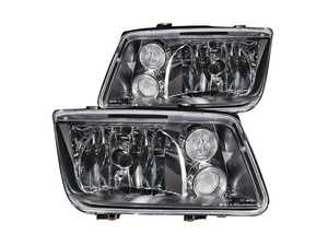 ES#4305303 - 121169 - OE Style Headlight Set - Black - With fog lights, with clear turn signal lenses - Anzo - Volkswagen